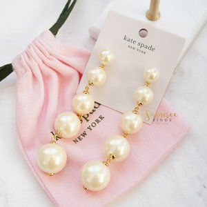 Kate Spade Girls in Pearls Linear Earrings